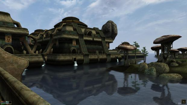 The city of Vivec, Morrowind